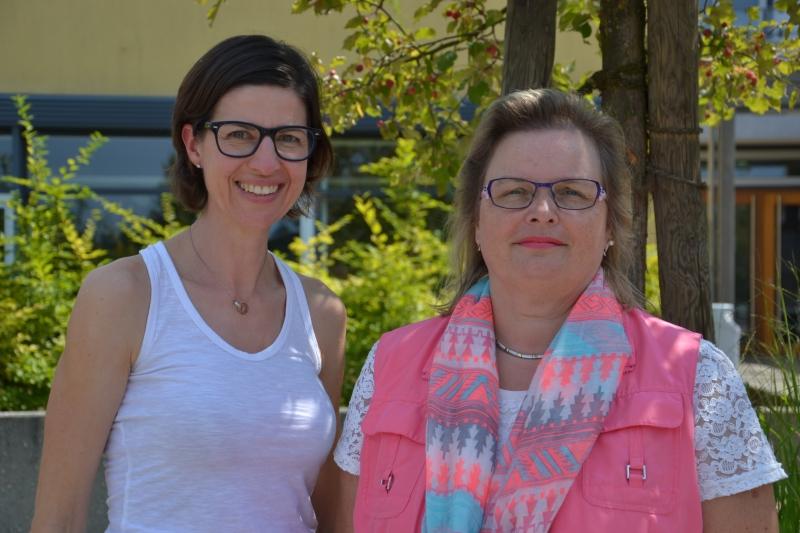 Unsere Sekretärinnen Frau Gehrig und Frau Kleinknecht
