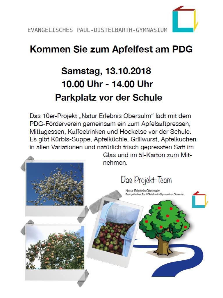 Einladung Apfelfest 2018
