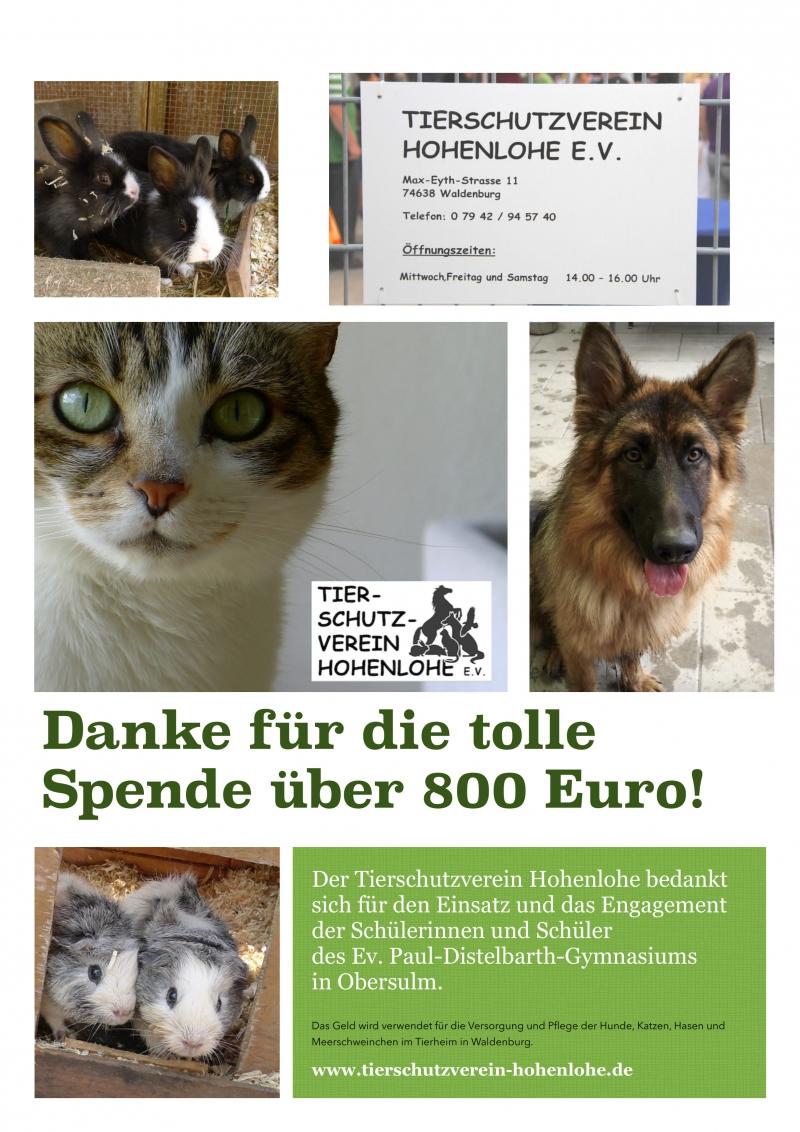 Danke Tierschutzverein
