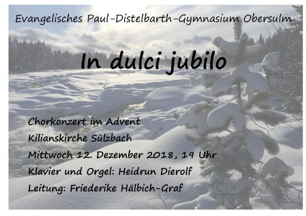 Chorkonzert Kilianskirche 12 Dezember 2018