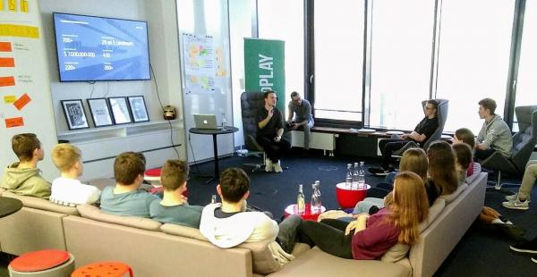Startup Besuch des Seminarkurses Globalisierung