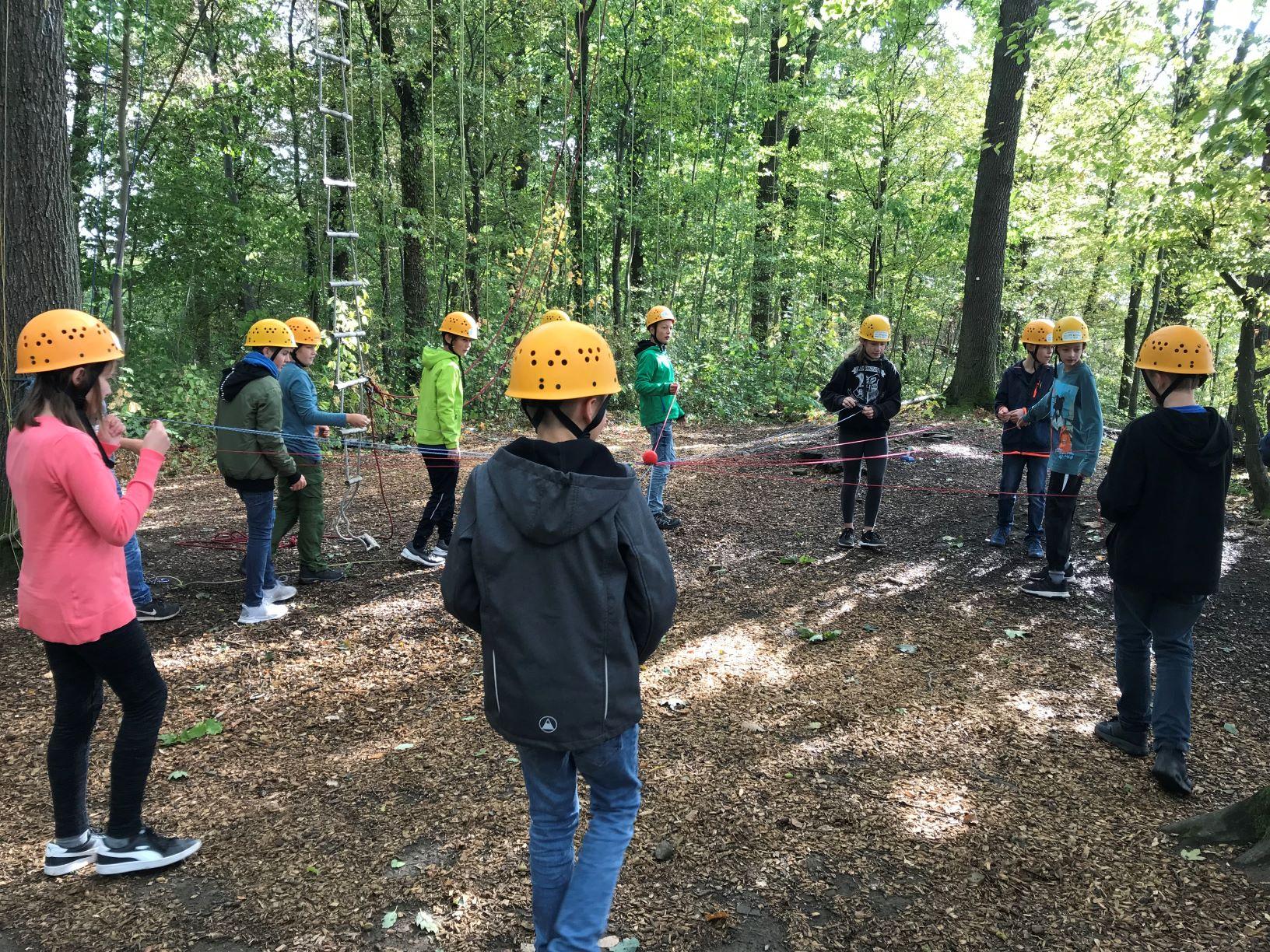 Teambuilding im Waldkletterpark2