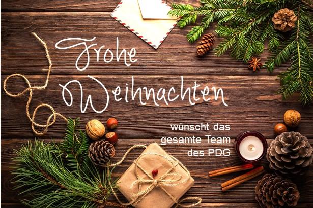 Frohe Weihnachten wünscht das PDG