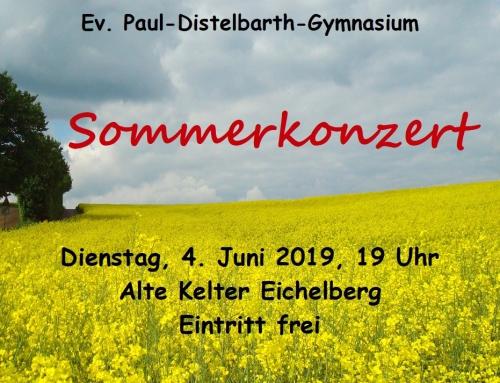 Herzliche Einladung zum Sommerkonzert 2019