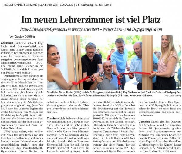 HEILBRONNER STIMME Landkreis Ost LOKALES 34 Samstag 6. Juli 2019