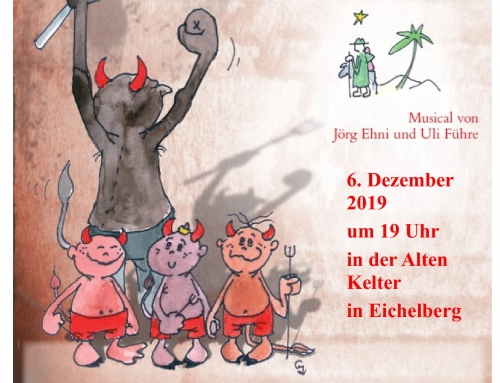 Bald ist es soweit: Unser PDG-Weihnachtsmusical in der Kelter Eichelberg