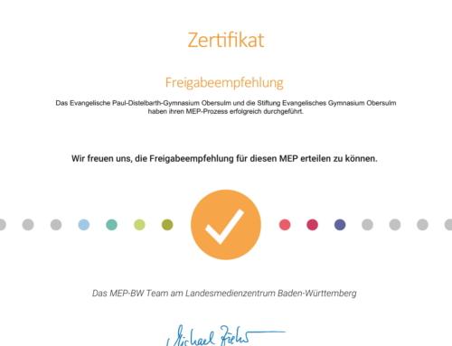 MEP für die Beantragung der Mittel des DigitalPakts erfolgreich erstellt