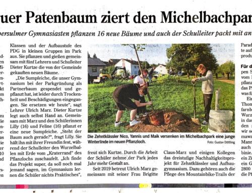 Neue Bäume für den Michelbachpark