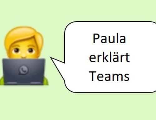 Paula erklärt Teams
