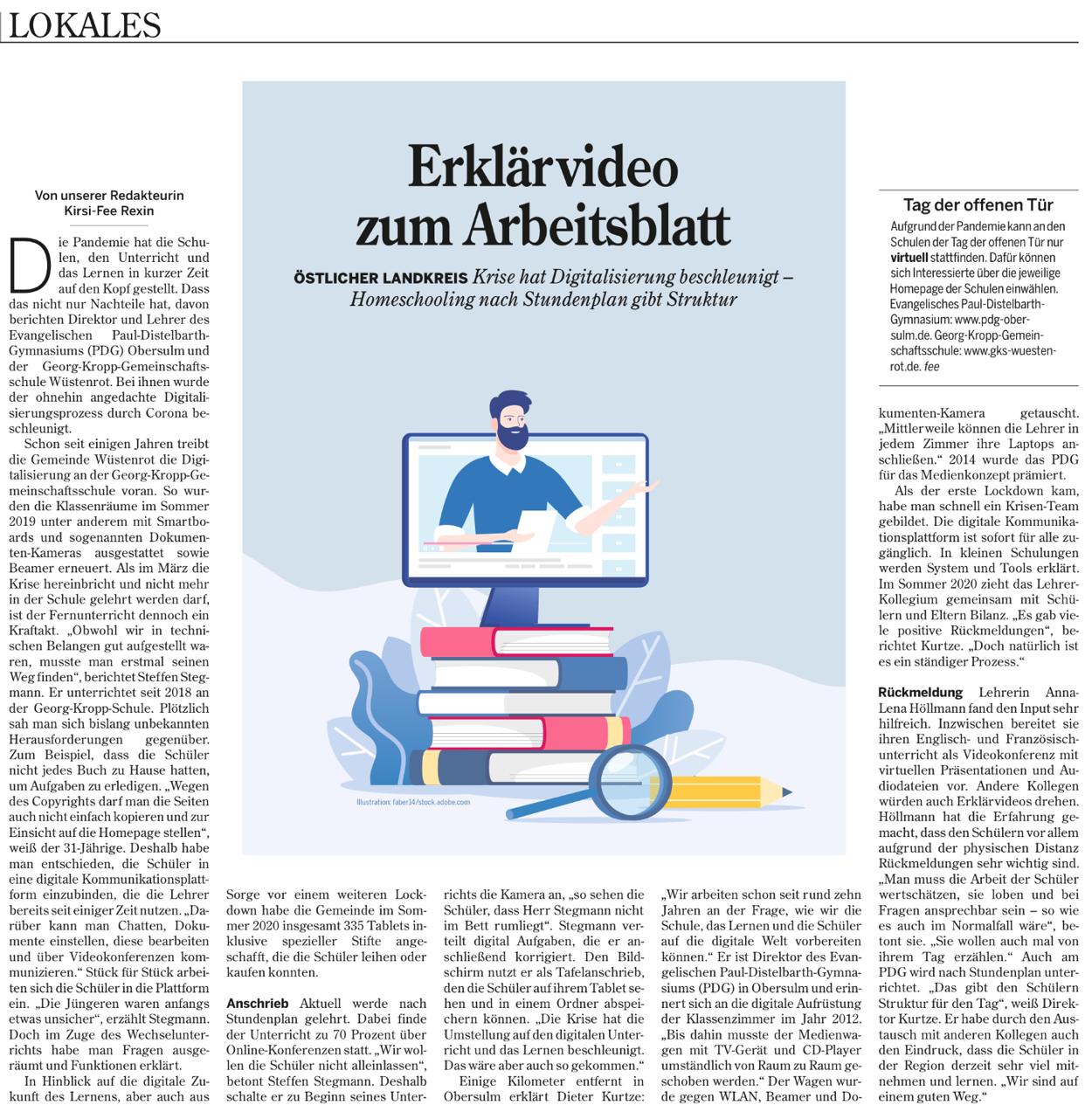 Schule und Digitalisierung auf einem guten Weg-2021