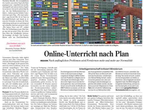 Online-Unterricht nach Plan